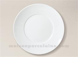 ASSIETTE PLATE LIMOGES PORCELAINE BLANCHE ENVIE D28