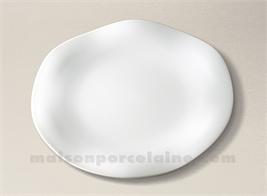 ASSIETTE PLATE LIMOGES PORCELAINE BLANCHE GALA D27.5