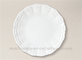 ASSIETTE PLATE PATE EXTRA BLANCHE LIMOGES CORAIL D25