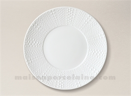 ASSIETTE PLATE PATE EXTRA BLANCHE LIMOGES SANIA D27.5