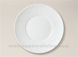 ASSIETTE PLATE PATE EXTRA BLANCHE LIMOGES SANIA MAT D27.5