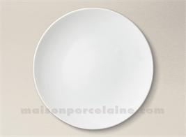 ASSIETTE PLATE PORCELAINE BLANCHE ARTOIS D27