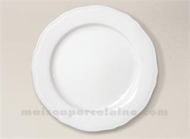 ASSIETTE PLATE PORCELAINE BLANCHE CLARA D26.5