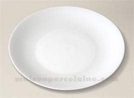 ASSIETTE PLATE PORCELAINE BLANCHE HAUSSMANN FABRIQUEE EN FRANCE D26.5CM