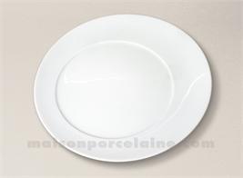 ASSIETTE PLATE PORCELAINE BLANCHE KOSMOS D28