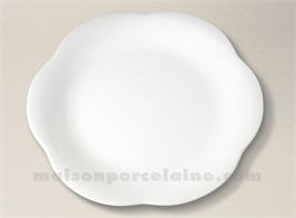 ASSIETTE PLATE PORCELAINE BLANCHE MAYA D26