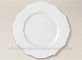 ASSIETTE PLATE PORCELAINE BLANCHE SISSI D27.5