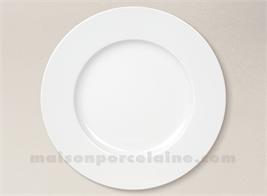 ASSIETTE PLATE PORCELAINE BLANCHE SOLOGNE D27