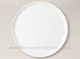 ASSIETTE PLATE PORCELAINE BLANCHE YAKA 27.5CM