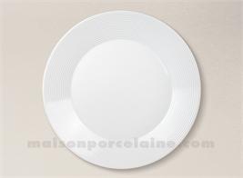 ASSIETTE PLATE PORCELAINE BLANCHE ZEBRA D27