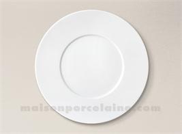 ASSIETTE PLATE PORCELAINE BLANCHE ZEN D27