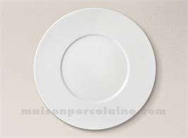 ASSIETTE PLATE PORCELAINE BLANCHE ZEN D29