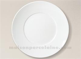 ASSIETTE PRESENTATION LIMOGES PORCELAINE BLANCHE ENVIE D32