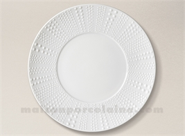 ASSIETTE PRESENTATION PATE EXTRA BLANCHE LIMOGES SANIA D31.5