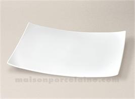 ASSIETTE RECTANGULAIRE LIMOGES PORCELAINE BLANCHE OXYGENE GM 33X23