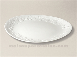 ASSIETTE STEAK CALIFORNIA PORCELAINE BLANCHE 28X25