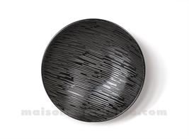 ASSI/TE GRES SALADE / PATES MEDARD DE NOBLAT MAGMA BLACK 19CM