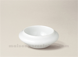 BEURRIER INDIVIDUEL PORCELAINE BLANCHE ROND 8X3