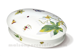 BOMBONNIERE LIMOGES OVALE PLATE ANDRE 18X12