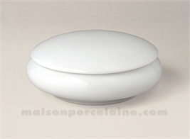 BOMBONNIERE LIMOGES PORCELAINE BLANCHE RONDE BOMBEE N°2 12X5