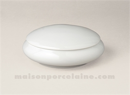 BOMBONNIERE LIMOGES PORCELAINE BLANCHE RONDE BOMBEE N°3 11X5
