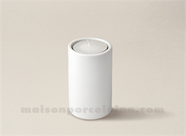 BOUGEOIR PORCELAINE BLANCHE TUBE MM 8X5