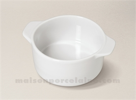 CAQUELON PORCELAINE BLANCHE A FOUR MM 15.3X12X6
