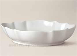 COUPE LIMOGES PORCELAINE BLANCHE CHRISTOPHE EXTRA 29X22