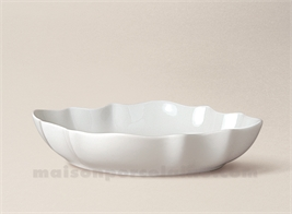 COUPE LIMOGES PORCELAINE BLANCHE CHRISTOPHE N°2 21X15