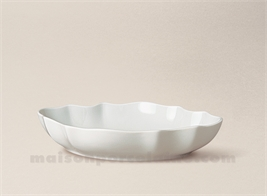 COUPE LIMOGES PORCELAINE BLANCHE CHRISTOPHE N°3 19X13