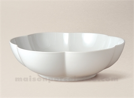 COUPE LIMOGES PORCELAINE BLANCHE COROLLE EXTRA D24.5
