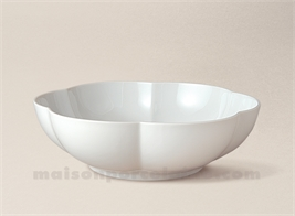 COUPE LIMOGES PORCELAINE BLANCHE COROLLE N°1 D19