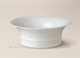 COUPE LIMOGES PORCELAINE BLANCHE EMPIRE GM D19