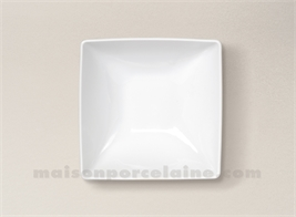 COUPELLE CARREE PORCELAINE BLANCHE COLORADO 13X13CM