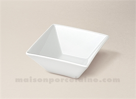COUPELLE CARREE PORCELAINE BLANCHE CREUSE KYOTO 10X10