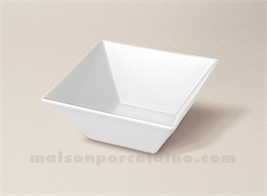 COUPELLE CARREE PORCELAINE BLANCHE CREUSE KYOTO 13X13