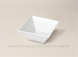 COUPELLE CARREE PORCELAINE BLANCHE CREUSE KYOTO 7X7