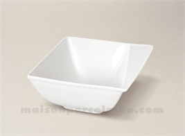 COUPELLE CARREE PORCELAINE BLANCHE KHEOPS 13X13CM