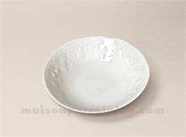 COUPELLE CREME CALIFORNIA LIMOGES PORCELAINE BLANCHE D14.5