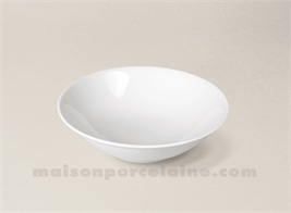 COUPELLE CREME LIMOGES PORCELAINE BLANCHE EMPIRE D14.5