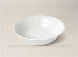 COUPELLE CREME LIMOGES PORCELAINE BLANCHE EMPIRE D16