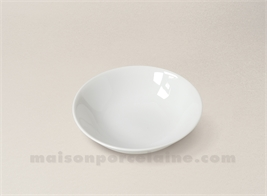 COUPELLE CREME LIMOGES PORCELAINE BLANCHE ENVIE D14.5