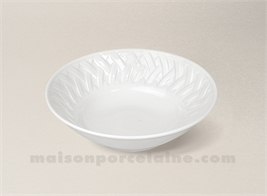 COUPELLE CREME LIMOGES PORCELAINE BLANCHE LOUISIANE D14