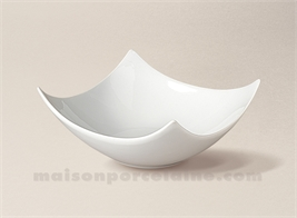 COUPELLE TAPAS PORCELAINE BLANCHE CARREE CREUSE DESIGN N°1 14X14