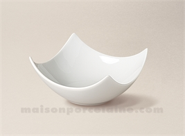 COUPELLE TAPAS PORCELAINE BLANCHE CARREE CREUSE DESIGN N°2 12X12