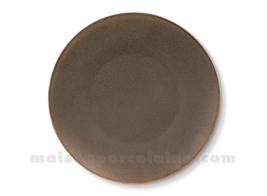DINNER PLATE PORCELAIN 'OKRA MAHOGANY' D27CM