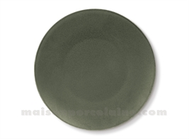 DINNER PLATE PORCELAIN 'OKRA OLIVE' D27CM