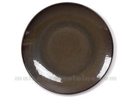 DINNER PLATE STONEWARE MEDARD DE NOBLAT FEELING BRONZE 26,5CM