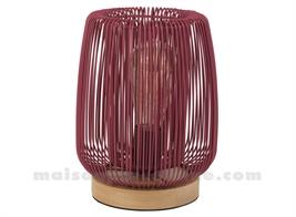 FERLINE - LAMPE GRENAT D19.5XH23CM