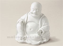 FIGURINE BOUDDHA CHANTILLY BISCUIT DE PORCELAINE13X15